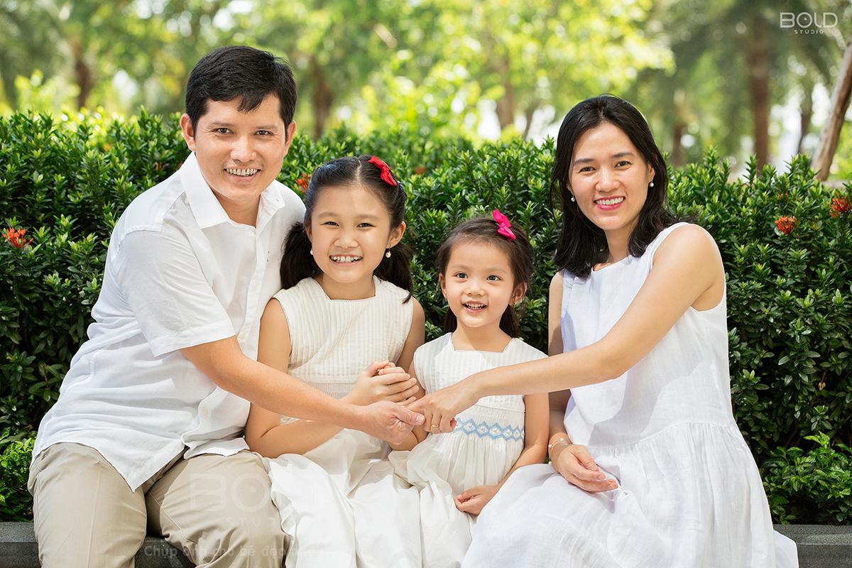 chụp ảnh gia đình ở vinhomes central park