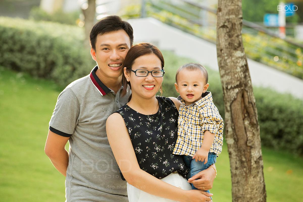chụp hình gia đình ngoại cảnh