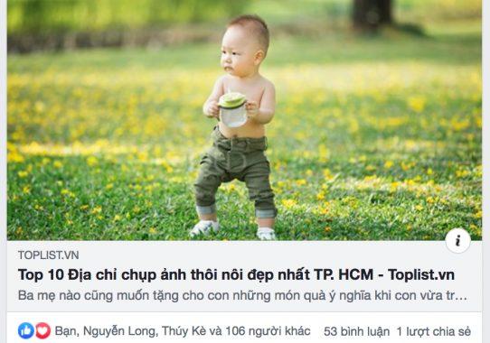 Báo Toplist.vn: Bold Studio đứng số 1 trong lĩnh vực chụp ảnh thôi nôi tại TPHCM