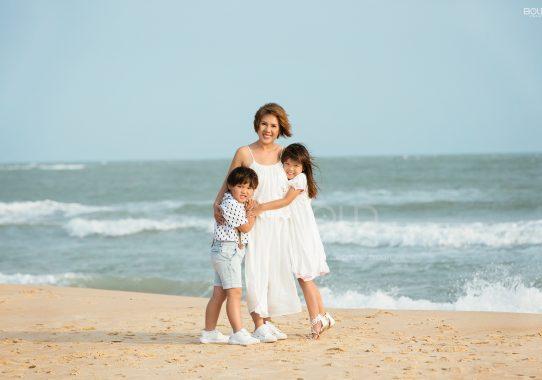 Chụp ảnh gia đình ở Hồ Tràm