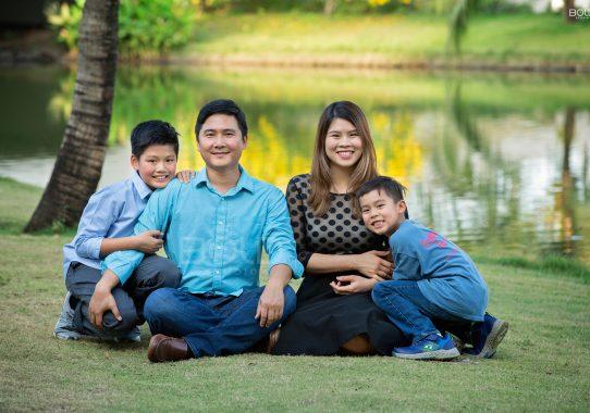 Chụp ảnh gia đình chị Quỳnh Anh